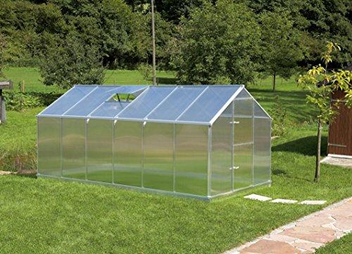 Gartentec Aluminium Gewächshaus Typ F2 - Typ F6 (Typ F6: 10,17 m²)