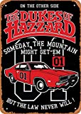 Oulili Vintage Metal Sign The Dukes of Hazzard Movie Cars - 8 x 12 Inches Tin Sign for Home Bar Pub Garage Decor Gifts