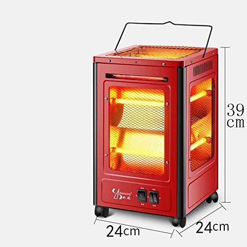 Lsmaa ventilatorkachel met vijf kanten, voor zonnebrand, thuis, energiebesparend, elektrische ventilator