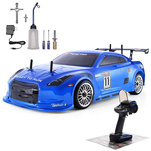 HSP 4wd RC Car 1:10 On Road Touring Drift High Speed Nitro Power Vehicle Racing Car 94102 Blue