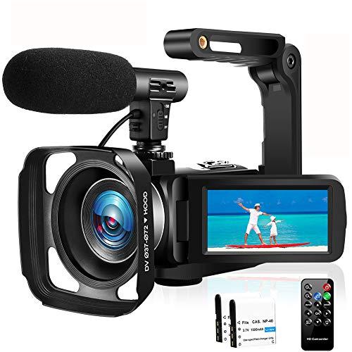 Caméscope Caméra Vidéo Full HD 1080P 30FPS Caméra...