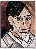 Artiste Pablo Picasso Autoportrait avec Palette Art mural Picasso Impressions sur toile Affiches Picasso Peintures à l'huile Bureau Chambre Hôtel Boutique Décor 40x60cm / Sans cadre