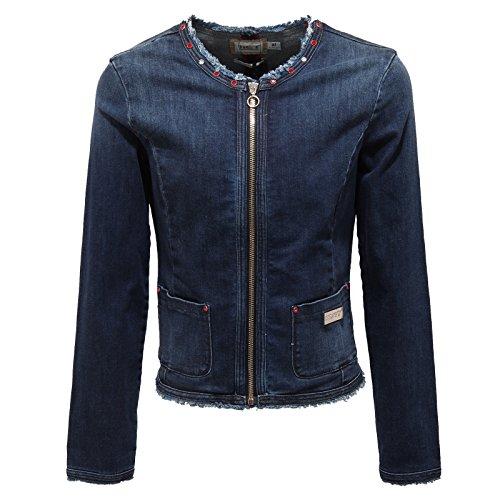 0932T giacca jeans bimba MET borchie pietre blu denim jacket kid