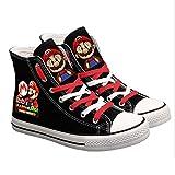 Zapatos Lindo Super Mario Impreso Las Zapatillas De Deporte De Las Mujeres De Los Hombres De Los Zapatos De Lona Ocasionales De Dibujos Animados Niños Y Niñas Adolescentes,Rojo,37