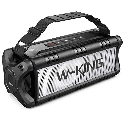 W-KING 50W(70W Peak) Enceinte Bluetooth Portable & Batterie de Recharge 8000 mAh, Autonomie 24...