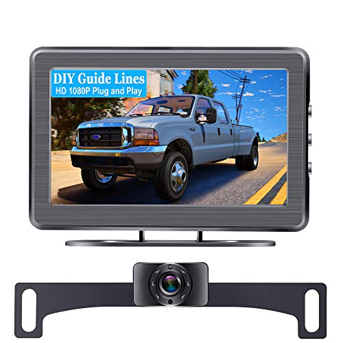 AMTIFO A2 HD 1080P Car Backup Camera with 4.3 Inch Monitor,Easy Installation System for Cars,Trucks,Campers,Clear Night Vision,DIY Guide Lines