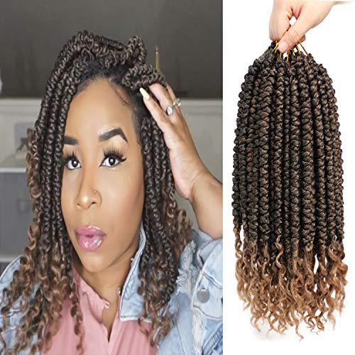 Fayasu Senegalese Twist Crochet Braids Spring Twist Curly End Pre looped Crochet Hair Synthetic Hair Extension For Black Women 6 Packs T27