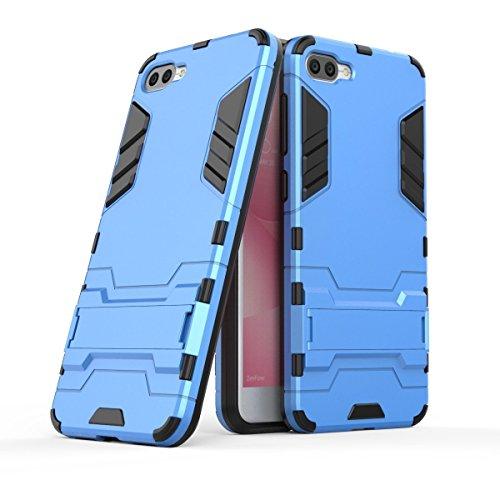 Hülle für Asus ZenFone 4 Max ZC520KL (5,2 Zoll) 2 in 1 Hybrid Dual Layer Shell Armor Schutzhülle mit Standfunktion Hülle (Blau)