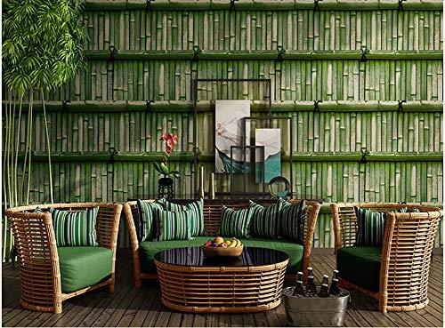TY&WJ Klebstoff 3D Grüner Bambus Tapete,Chinoiserie Bambuswald Mauer Wandbilder,Abnehmbare Vinyl Kontaktpapier Für Restaurant Küche Backsplash B 20x394inch