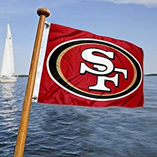 WinCraft San Francisco 49ers Boat and Golf Cart Flag