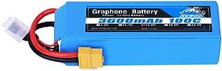 YOWOO Graphene Battery 4S 14.8V Lipo Battery 3600mAh 100C XT60 Plug for RC Evader BX Car Truck Truggy Boat Airplane UAV Drone FPV DJI E-flite Rare Bear Hangar 9 Christen Eagle II90