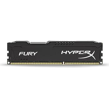 Kingston HyperX FURY 8GB 1600MHz DDR3 CL10 DIMM - Black (HX316C10FB/8)