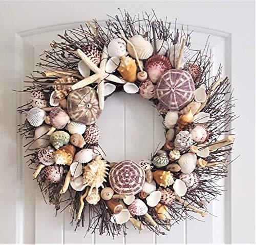 Seashell Decor Beach Wreath Driftwood Wreath Driftwood Shell Wreath Door Wreath Seashell Wreath Coastal Wreath Wreath Beach Decor