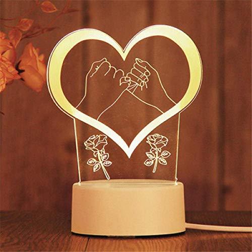 Bar Stools Stecker Modelle 3D Nachtlicht Geburtstagsgeschenk Geleefisch Lampe LED Dekorative Tischlampe Flutlicht Schlafzimmer Nachttischlampe Paar Geschenkhandhaken
