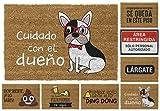 TIENDA EURASIA® Felpudos Entrada Casa Originales y Divertidos - Material : Fibra de Coco HQ con Base Antideslizante de PVC - Medidas : 40x70 cm (Dueño)