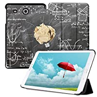 MAITTAO Slim Case for Samsung Galaxy Tab E 9.6, Leather Protective Stand Cover For Tab E Wi-Fi/Tab E Nook/Tab E Verizon 9.6-Inch Tablet/Galaxy Tab E SM-T560/T561/T565/T567V, Creative Bulb 4