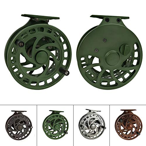 Z Aventik 2nd Generation High Reel Feet Center-Pin Floating Reel CNC machined Easy Line Through (Green)
