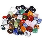 Ogquaton - 1 sacchetto da 100 g di pietre colorate miste irregolari di forma burattata pietre di roccia gemme patatine eleganti e popolari