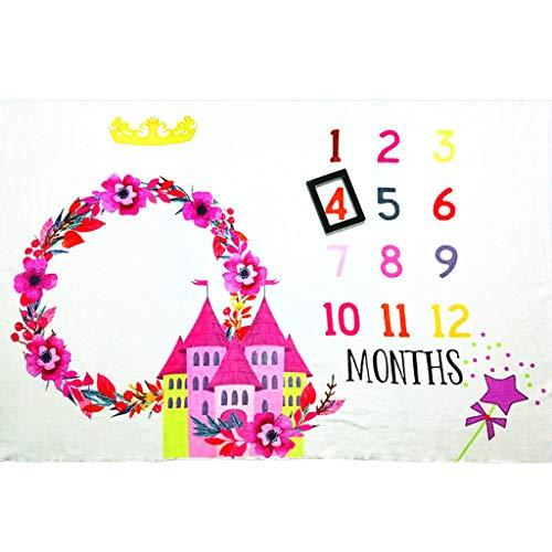 JOYKK Baby Kids meilensteen fotografie deken kind slot drukpatroon pasgeborenen creatieve foto achtergrond doek