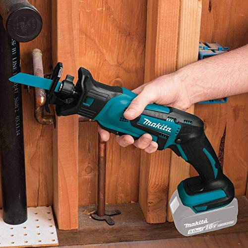 Makita XRJ01Z 18-Volt LXT Lithium-Ion Cordless Compact Reciprocating Saw (Tool Only, No Battery), Bare Tool (Renewed)