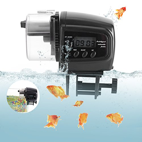 Alimentador automático de pescado Acuario Alimentador automático de alimentos para peces Tanque...