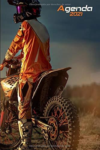 Agenda 2021 Motocross: Agenda 2021 semana vista Moto cross - una Semana en dos Páginas - organizador - planificador semanal y mensual 12 meses A5 - ... motero biker motocicleta motorcycle Lovers