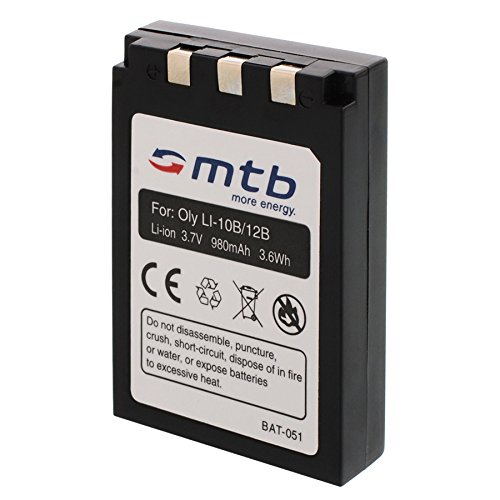 Batería Li-10b/12b para Olympus C-765 UltraZoom, C-770 UltraZoom, D-590 Zoom