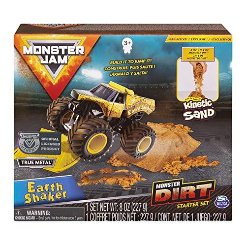 Monster Jam, Earth Shaker Monster Dirt Starter Set, Featuring 8oz of Monster Dirt and Official 1:64 Scale Die-Cast Monster Jam Truck