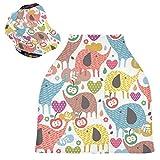 Fundas de asiento de coche para bebé con diseño de animales de dibujos animados, para bebés y madres lactantes