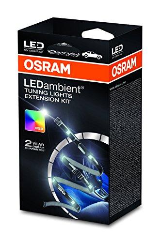 Kit d'extension OSRAM LEDambient Tuning Lights, ensemble d'extension pour LEDINT201, éclairage de l'espace intérieur de véhicule, LEDINT202, 16 couleurs, 5 modes, commande via télécommande, 12V, boîte pliante (1 pièce)