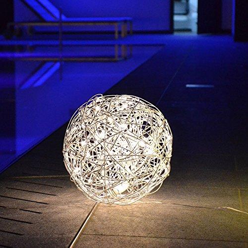 s.LUCE Mesh S LED-Drahtkugel Ø 30 cm Innen & Aussen Stehlampe