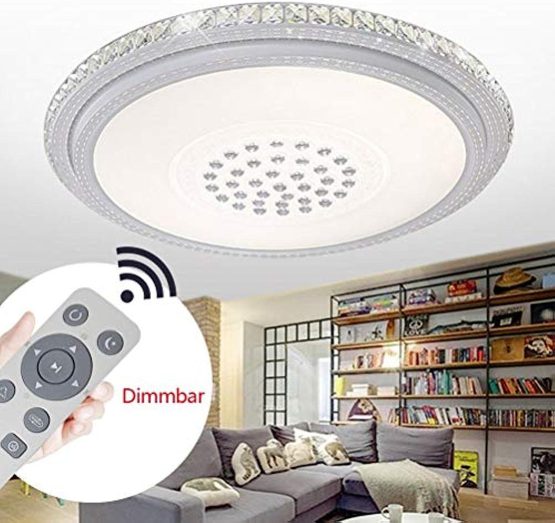 BMQXX 72W LED Kristall Deckenleuchte Dimmbar Kristall Deckenlampe Badleuchte Wandlampe Schlafzimmer Wohnzimmer Licht