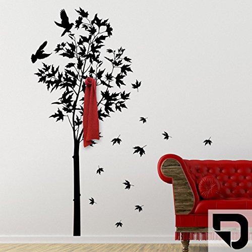 Wandgarderobe Sitzbank Baum-Design