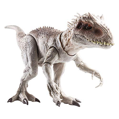 LRHD Juguetes para niños regalos de cumpleaños de vacaciones Jurassic World Destroy Devour Dinosaur TynanSaurus Rex puede hacer un sonido Dinosaur Model Models Sounfs Sounfs para niños y niñas Blanco