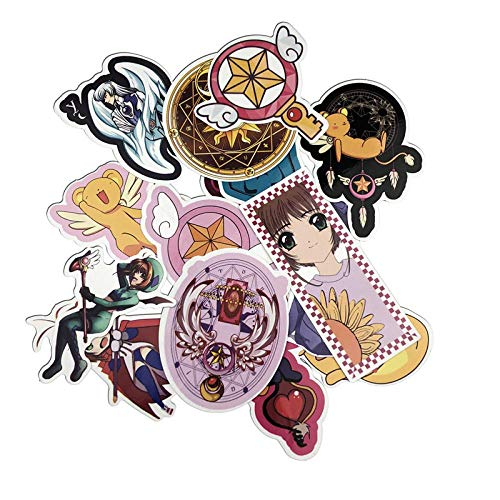 15pcs / Lot Card Captor Sakura Stickers Creative Suitcase Stickers para Laptop Equipaje Bolsas Bike Phone Cool Sticker