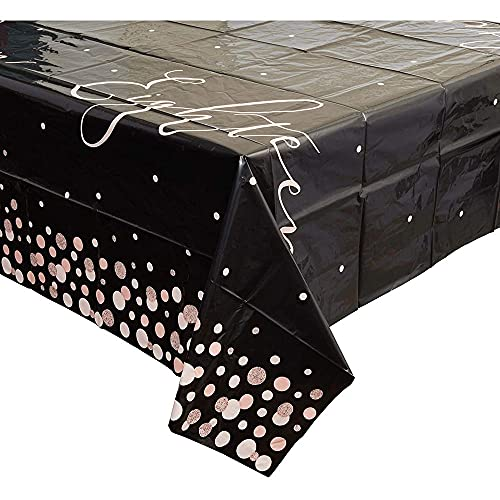 Sparkle and Bash 18th Birthday Plastic Table Covers (3 Pack) 54 x 108 Inches
