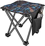 Small Lightweight Portable Camping Stool Folding Lawn Chair, 300 Lbs Weight Capacity Aluminium Alloy...