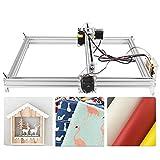 DIY CNC Engraver Kits Wood Carving Engraving Cutting Machine Desktop Printer Logo Picture Marking, 40x50cm,2 Axis (5500MW)