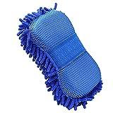 Mikrofaser Chenille Autowaschschwamm, EFORCAR Doppelseitiger Autowaschschwamm mit eingebautem...