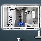 Miroir De Maquillage Mural Anti-BuéE Pour Miroir De Salle De Bain Avec Miroir à Led Miroir,RéTro-éClairé Par Led +...
