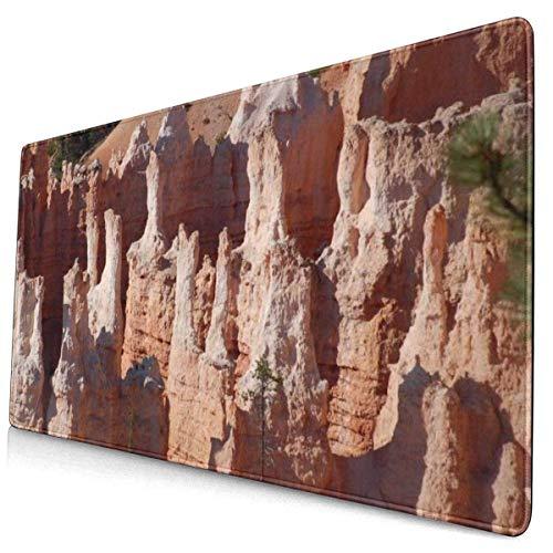 Alfombrilla de ratón Colorida Personalizada Red Sandstone Canyon Alfombrilla de Escritorio Protector de Alfombrilla de ratón Alfombrilla de Teclado para Juegos Grande Alfombrilla de ratón Grande Base