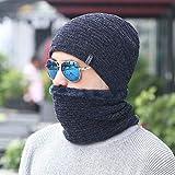 Winter Chenille Knit Hat Collar Set Hombres Plus Terciopelo Engrosamiento...