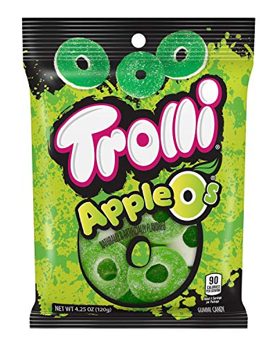 Trolli Apple O's Gummy Rings Candy, 4.25 Ounce, Pack of 12