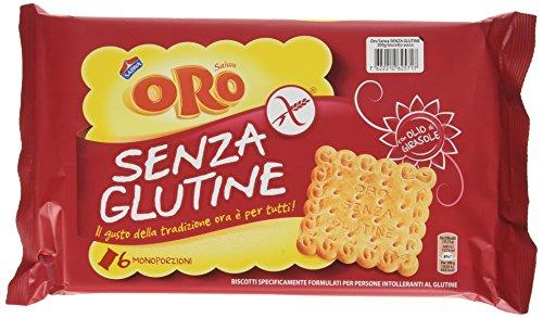 Oro Saiwa Biscotti senza Glutine, 6 x 33.3g