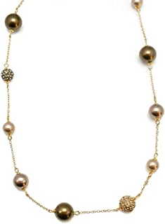 Papyrus by Niquea.d Caramel Champagne Pearl Necklace