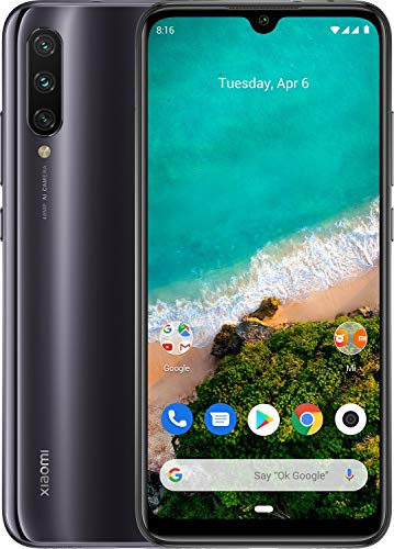 Xiaomi Mi A3 128GB, 4GB RAM 6.1' 48MP AI Triple Camera LTE Factory Unlocked Smartphone (International Version) (Kind of Grey)
