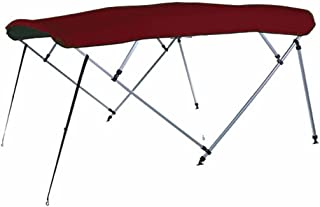 7 oz Maroon 4 Bow Square Tube Boat Bimini TOP Without Running Light Cutout Sunshade for BASS Tracker/Tracker/SUNTRACKER Party Barge 18 Signature 2001-2003