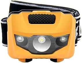 Hoofdlamp hoofdlamp mini hoofdlamp 4 modi waterdicht 600 lm R3 + 2 LED zaklamp super heldere schijnwerper zaklamp Lanterna...