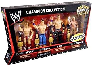 Mattel WWE Wrestling Exclusive Champion Collection Action Figure 4Pack Daniel Bryan, John Cena, Kane Dolph Ziggler