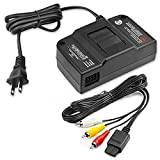 N64 AV Cable, N64 Power Supply, AV Composite Cable Video Cord & Replacement AC Adapter Set, Compatible with Nintendo 64 / N64 / Gamecube